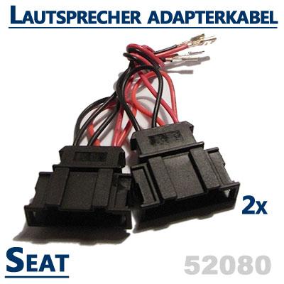 Seat-Cordoba-6L-2x-Lautsprecher-Adapterkabel-vordere-oder-hintere-Türen