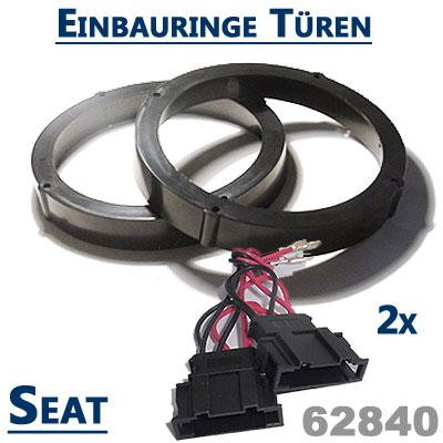Seat-Cordoba-6L-2x-Lautsprecher-Einbauringe-für-vordere-oder-hintere-Türen