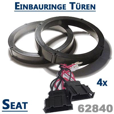 Seat-Ibiza-6L-Lautsprecher-Einbauringe-für-die-vordere-Türen-und-hinten-seitlich