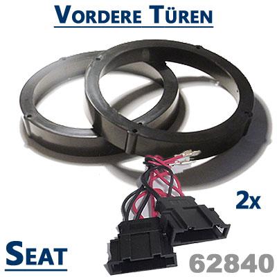 Seat-Ibiza-6L-Lautsprecher-Einbauringe-für-die-vordere-Türen