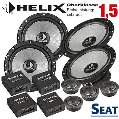 Seat-Ibiza-6L-Lautsprecher-Set-Oberklasse-vorne-und-hinten