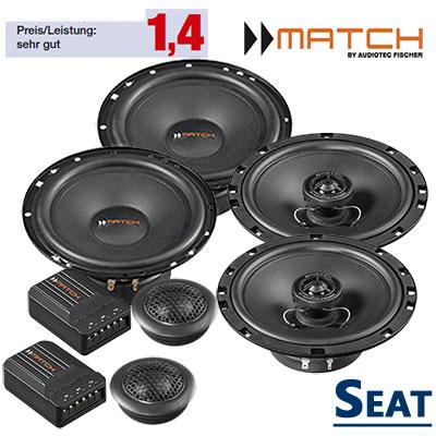 Seat-Ibiza-6L-Lautsprecher-Set-vordere-hintere-Einbauplätze