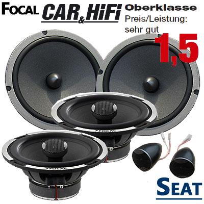 Seat-Ibiza-6L-Lautsprecher-Set-vorne-und-hinten-Oberklasse
