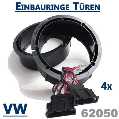 VW-Passat-3BG-Variant-Lautsprecherringe-vordere-und-hintere-Türen