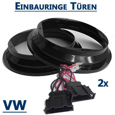 VW-Passat-B5-Lautsprecherringe-20cm-vordere-Türen