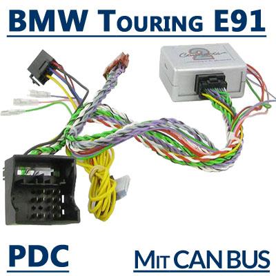 BMW-3er-Touring-E91-Lenkradfernbedienungsadapter-unterstützt-PDC