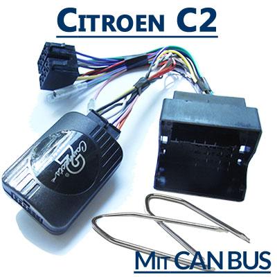 Citroen-C2-Adapter-für-Lenkradfernbedienung-mit-CAN-BUS
