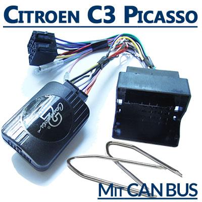 Citroen-C3-Picasso-Adapter-für-Lenkradfernbedienung-mit-CAN-BUS