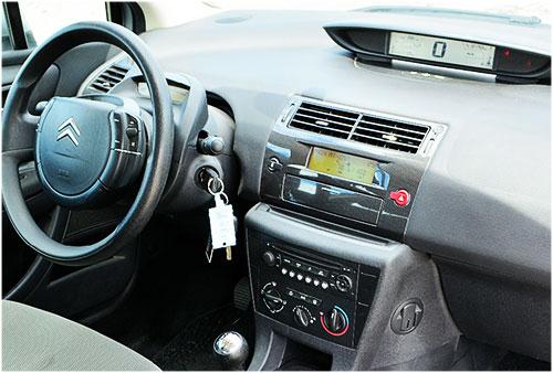 Citroen-C4-mit-RD4-Radio citroen c4 adapter für lenkradfernbedienung mit can bus Citroen C4 Adapter für Lenkradfernbedienung mit CAN BUS Citroen C4 mit RD4 Radio