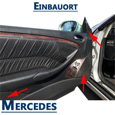 Mercedes-CLK-A209-Lautsprecher-Einbauorte-vordere-Türen