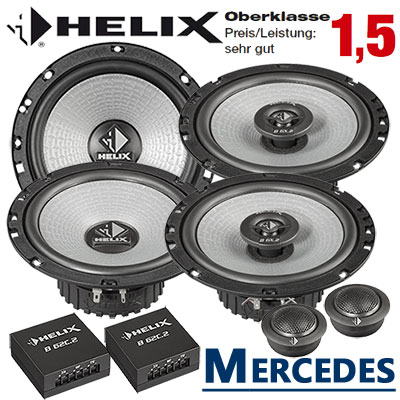 Mercedes-CLK-Cabrio-Auto-Lautsprecher-Set-Oberklasse-vordere-Türen