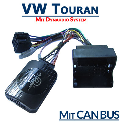 VW-Touran-mit-Dynaudio-System-Adapter-für-Lenkradfernbedienung