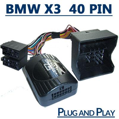 BMW X3 Adapter für Lenkradfernbedienung 40 PIN Anschluss BMW X3 Adapter für Lenkradfernbedienung 40 PIN Anschluss BMW X3 Adapter f  r Lenkradfernbedienung 40 PIN Anschluss